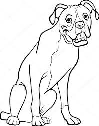 boxer dog cartoon coloring book u2014 stock vector izakowski