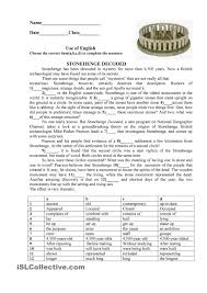 stonehenge esl printable worksheet of the day on july 11 2015 by