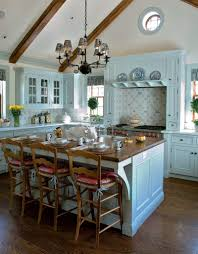 Light Blue Kitchen Cabinets by Kitchen Style Blue Hardwood Floors For Rustic Kitchen With Copper