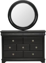 oberon black dresser u0026 mirror set dresser mirrors colors