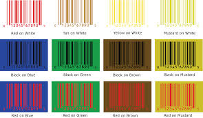 mustard color code tools barcode color guide bar code graphics