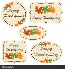 thanksgiving labels ornate thanksgiving labels clipart stock vector scrapster