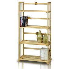 amazon com furinno fncl 33002 pine solid wood 4 tier bookshelf