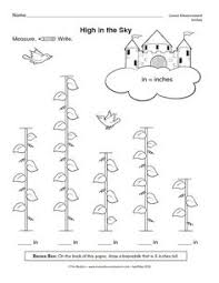 jack and the beanstalk math measurement worksheets jack and the