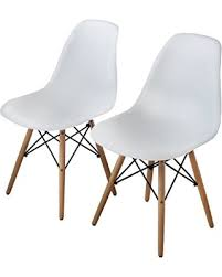 Molded Plastic Armchair Amazing Deal On Bushman Eames Style Side Chairs Mid Century Dining