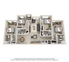 4 bedroom apartment floor plans 2 3 4 bedroom student apartments in atlanta ga