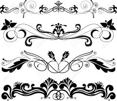 illustration four horizontal decorative ornament royalty free