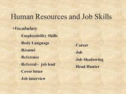 Job Shadowing On Resume by Human Resource Management Human Resources And Job Skills