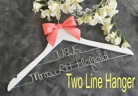 personalized wedding hangers personalized wedding hangers custom bridal hangers