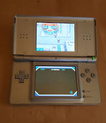 nintendo ds lite silver grey handheld console system w pokemon