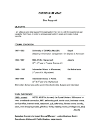 Example Objective For Resume General by How To Write Objectives For Resume Resume For Your Job Application