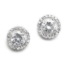 cubic zirconia earrings halo design cubic zirconia earrings myweddingreceptionideas