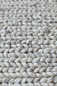 linie design comfort silver wool rug