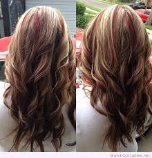 layred hairstyles eith high low lifhts red highlights with blonde and brown lowlights jpg hair