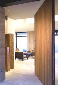 modern home decor large pivot door insulated wood door interior