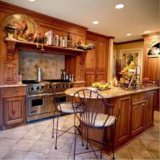 architecture country home design with wooden furnished kitchen