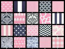 Pink And Blue Crib Bedding You Design Custom 3 Piece Crib Bedding Set Bumper Skirt And