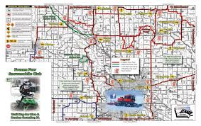 Iowa State Map Iowa Snowmobile Trails