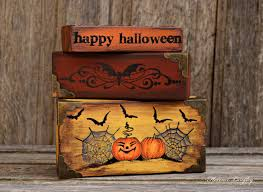 halloween decorations u2013 stamping on wood u2013 florence and freddie