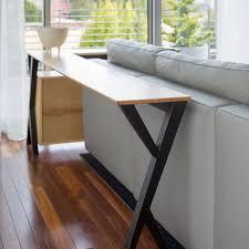 Diy Sofa Table Diy Narrow Sofa Table Design