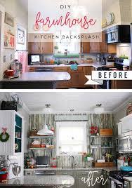 Farmhouse Kitchen Backsplash by Diy Farmhouse Kitchen Backsplash By Robb Restyle