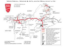 Boston Rail Map by Montreal Maine U0026 Atlantic Railway Railroad Maps Pinterest