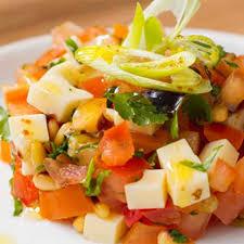 cuisiner coeur de boeuf tartare de tomates coeur de boeuf aux pignons de pin et fromage