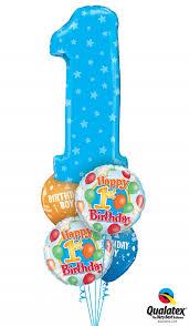 1st birthday balloon delivery 1st birthday boy bouquet 14 balloons vancouver jc balloon studio