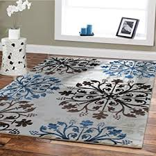 Dining Room Rugs Amazon Com Premium Rugs For Living Room Cream Ivory Black Brown