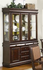 merlot buffet and hutch in brown cherry finish by crown mark 2145h