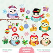 christmas owls clipart china cps