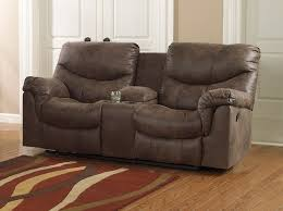 sofa glamorous reclining loveseat with console microfiber