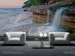 waterfall on the beach wall murals posters mcca1017en waterfall on the beach wall murals waterfalls posters