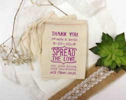 flower seed wedding favors let grow bloom etsy