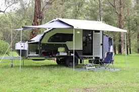 Wind Out Awning Topaz Overview Track Trailer