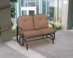 Patio Loveseat Glider Outdoor Glider Bench Patio Furniture Porch Loveseat Garden Seat