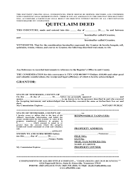 quitclaim deed template tennessee free download