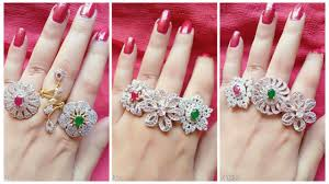 unique fashion rings images Unique designer finger rings broad latest jewellery designs jpg