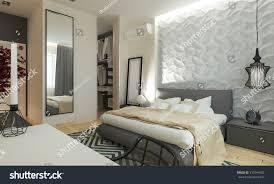 master bedroom dressing room 3d panels stock illustration