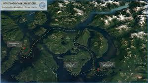 Kayak Map Desolation Sound Expedition 2017 Coastmountainexpeditions