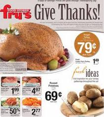fry s food weekly ad 11 19 11 27 2014 thanksgiving day specials