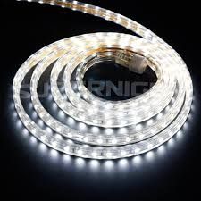 outdoor tube lighting amazon com binzet 10ft 5050 smd 110v daylight white led strip