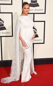 E Red Carpet Grammys Chrissy Teigen From Grammys 2016 Red Carpet Arrivals E News