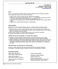 exle of registered resume clinical dietitian informaticist resume exle http
