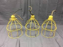 Work Light Fixtures by 1 Vintage Industrial Yellow Coated Wire Cage Work Light Fixture