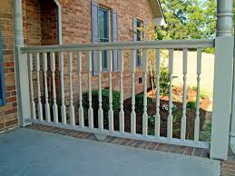 cedar wood porch railing system for robust traditional porches