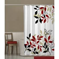 Shower Curtain Online Amazon Com Maytex Mills Satori Fabric Shower Curtain Red Home
