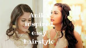 anika surbhi chandna easy front braid hairstyle from ishqbaaz