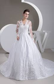 lace bridal gowns with sleeves long sleeve illusion full