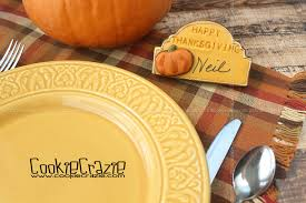 thanksgiving dinner place card decorated cookies tutorial